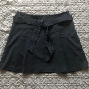 The Limited Grey Pleated Mini Skirt